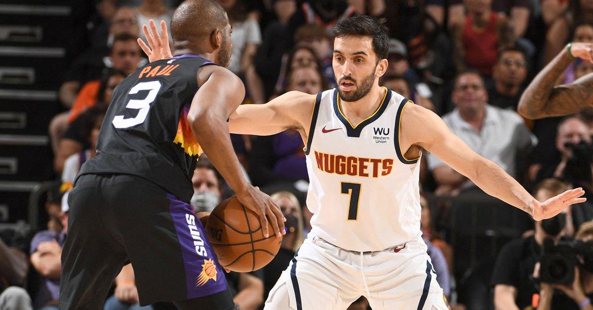 Campazzo sufrió ante una veterana leyenda de la NBA y los Denver Nuggets fueron arrollados por los Phoenix Suns - Infobae