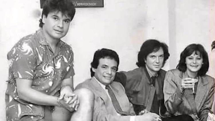 Las cuatro estrellas de la música compartieron una tarde (Foto: Twitter)