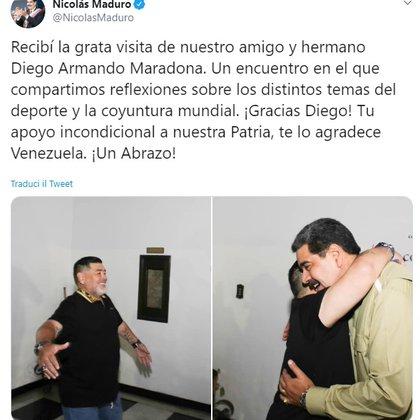 El mensaje de Maduro en las redes sociales