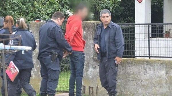 El cabo del Ejército Yonatan Maurette, al momento de su detención