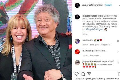Jo jo jo Jorge Falcón se unió a la lista de famosos que compartieron una anécdota al lado de Rodríguez (Foto: Captura de pantalla)