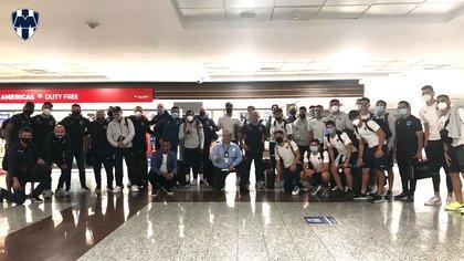La plantilla de Monterrey ya se encuentra en República Dominicana para enfrentar al Atlético Pantoja en la Concacaf Liga de Campeones (Foto: Twitter/@Rayados)