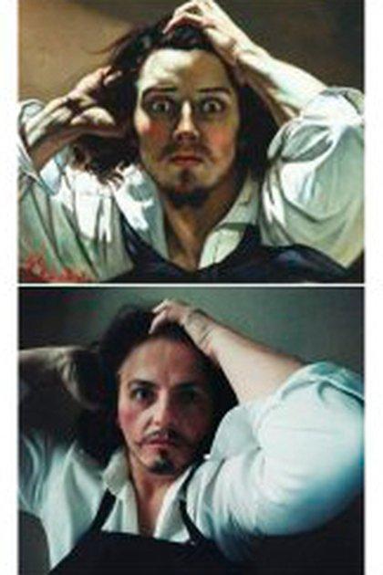 """""""El desesperado"""", de Gustav Courbet (@andreanav__)"""