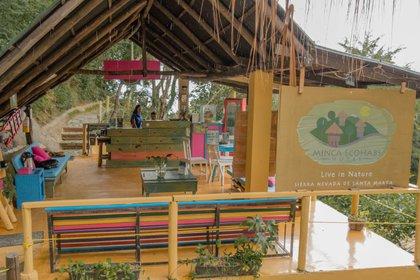 Minca Ecohabs es otro de los lugares de la zona para hacer la ruta del cacao. Foto: Cortesía