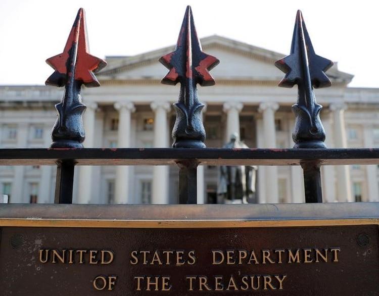 Sede del Departamento del Tesoro de Estaods Unidos en Washington.