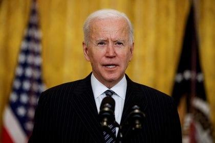 El presidente de Estados Unidos, Joe Biden, habla en conferencia en la Casa Blanca. REUTERS/Carlos Barria
