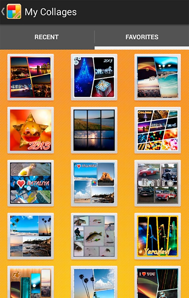 KDCollage permite amar paños con varias imágenes y diferentes fondos.