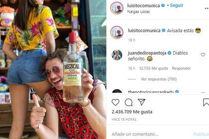 La foto que incendió la polémica (Foto: Instagram @luisitocomunica) Gerardo Martínez - @mtz.social