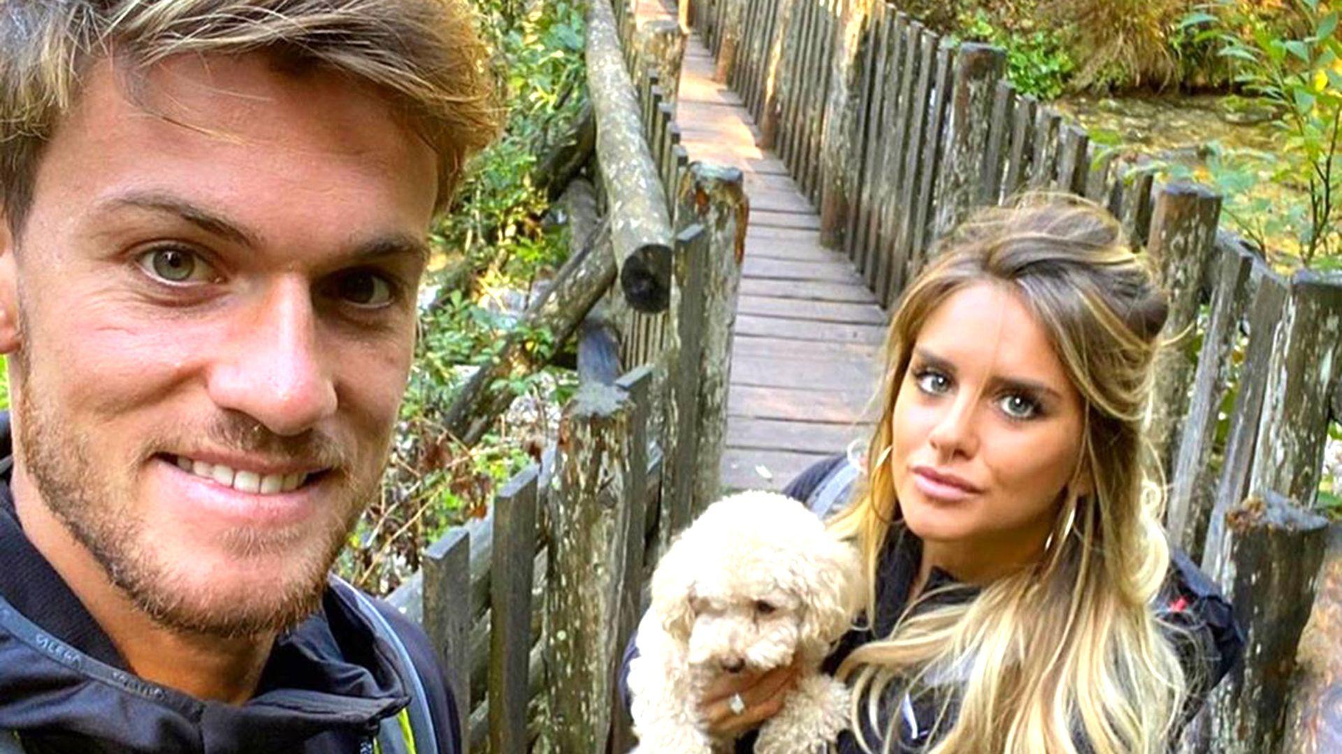 Daniele Rugani y su pareja dieron positivo de coronavirus (@michelapersico)