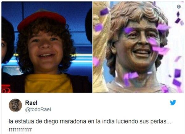 Los memes de Diego Maradona por su estatua en India