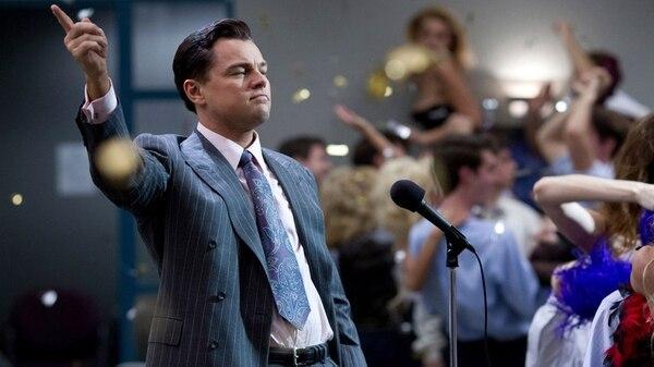 """Leonardo DiCaprio interpretando a Jordan Belfort en """"El Lobo de Wall Street"""""""