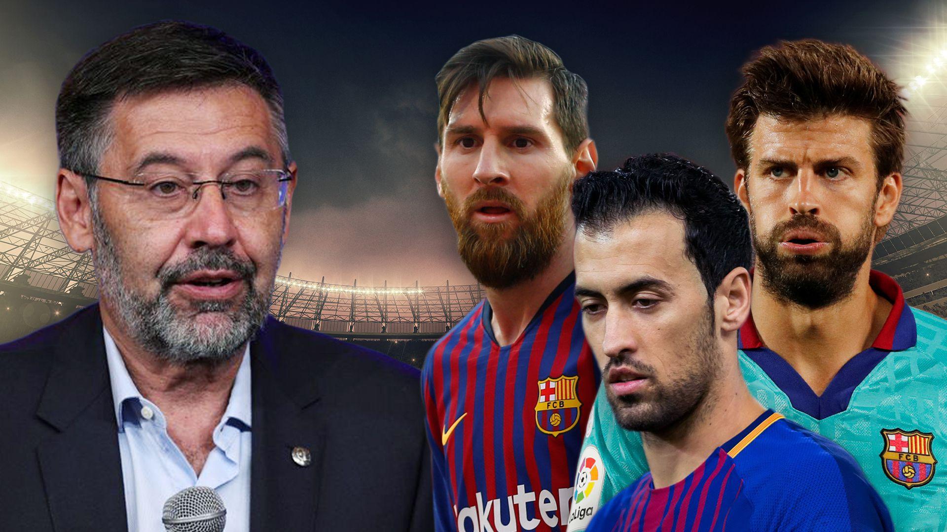 Josep Maria Bartomeu Messi, Piqué y Busquets