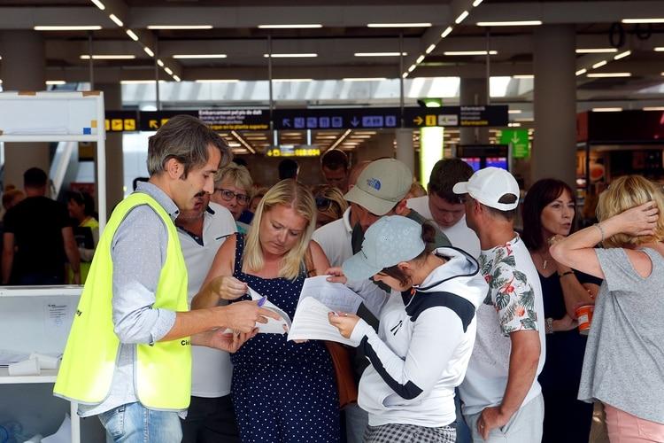 El caos se apoderó del aeropuerto de Mallorca (Reuters)