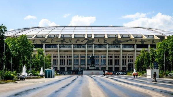 Luzhniki Stadium, el principal del torneo y donde muchos hinchas se acreditanpara retirar elFan ID que acompaña a cada ticket (AFP)