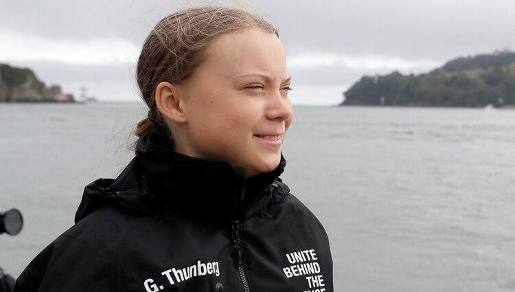 Greta Thunberg, a bordo de la embarcación ecológica (Reuters)