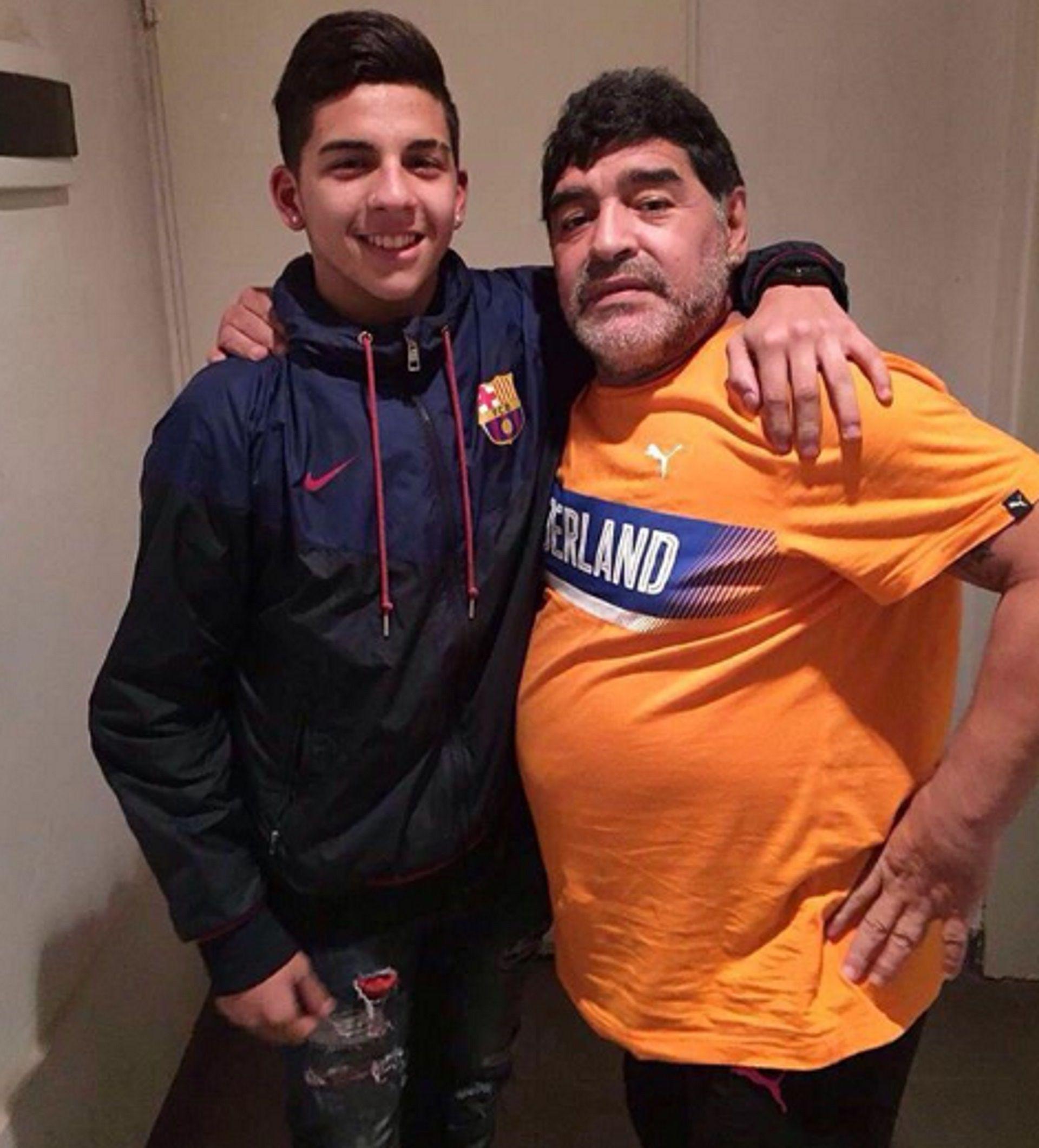 En su momento, Diego Armando Maradona consultó la situación de Hernán López Muñoz para llevarlo al Dínamo Brest de Bielorrusia (Crédito: Hernán López Muñoz)