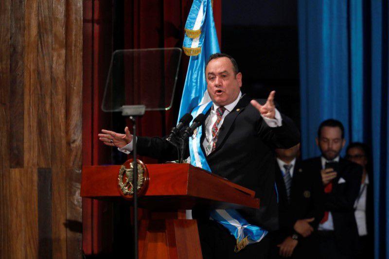 Imagen de archivo. Alejandro Giammattei es juramentado como presidente de Guatemala en Ciudad de Guatemala, Guatemala. 14 de enero de 2020. REUTERS/Luis Echeverria