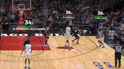 Una nueva forma de ver un partido de la NBA, con estadísticos en tiempo real de los jugadores.