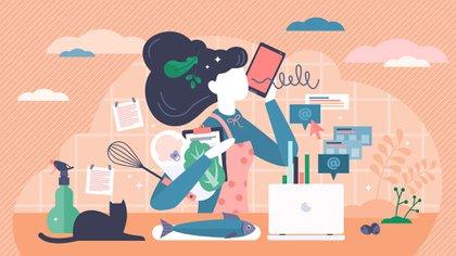 Las actividades que reciben las calificaciones más bajas incluyen hacer las tareas escolares, buscar trabajo o hacer las tareas del hogar (Shutterstock)