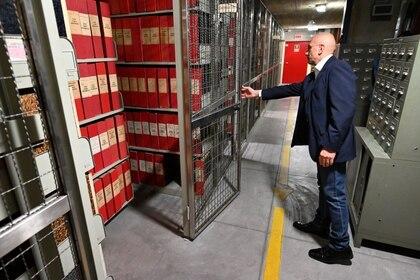 La sección dedicada a Pío XII en los archivos secreto vaticanos (AFP)