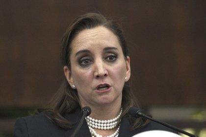 La senadora Ruiz Massieu votó en contra al considerar que no se puede aprobar un dictamen con tantos problemas incluso legales (Foto: Mario Guzmán/ EFE)