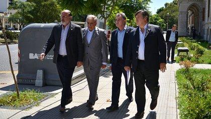 Los dirigentes de la Mesa de Enlace (Gustavo Gavotti)