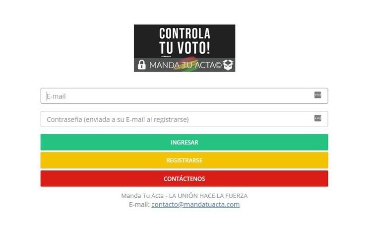 Mandatuacta.com, el sistema desarrollado en la web para una fiscalización ciudadana de los comicios del 20 de octubre