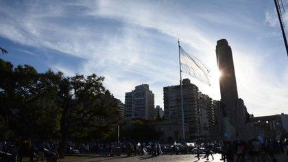 El Monumento a la Bandera en Rosario (Foto: Leo Galletto)