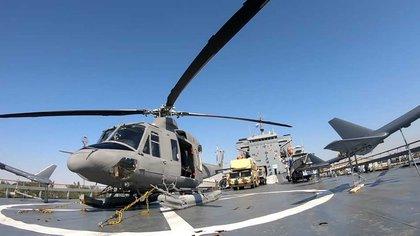 La botadura de esta embarcación iraní parece ser la respuesta a las patrullas de la Armada estadounidense en la región, efectuadas por su 5ta Flota, con sede en Bahrein. (Sepahnews/AP)