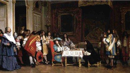 El rey Luis XIV y su corte