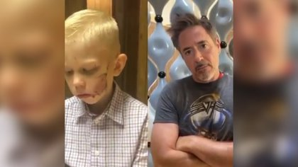 Robert Downey Jr. fue uno de los últimos actores de The Avengers en reconocer el heroico esfuerzo de Bridger Walker (Foto: nicolenoelwalker / IG -Captura de pantalla.)
