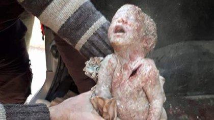 Una devastadora imagen en Maarrat al Nuuman (Syria Civil Defense)