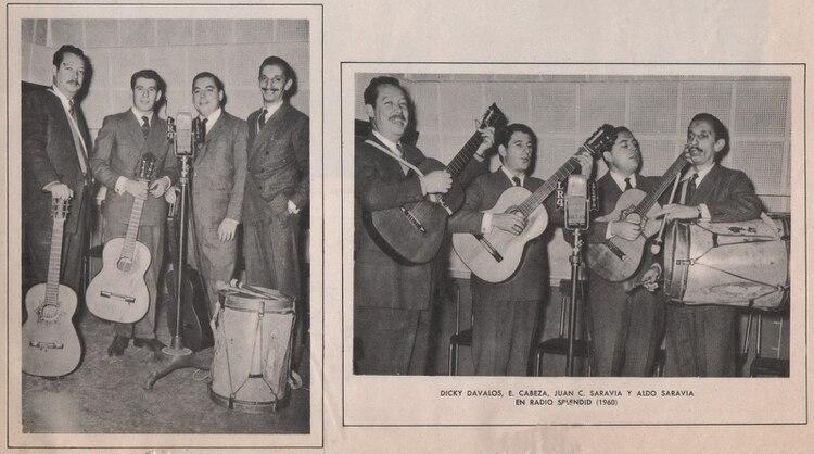 Así mostró una revista la actuación de Los Chalchaleros en 1960