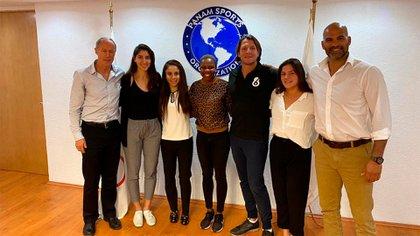 Los integrantes de la Comisión de Atletas de las Américas (Foto: PANAM SPORTS)