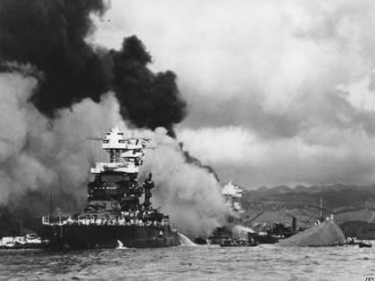 Una imagen del ataque japonés sobre Pearl Harbor, el 7 de diciembre de 1941