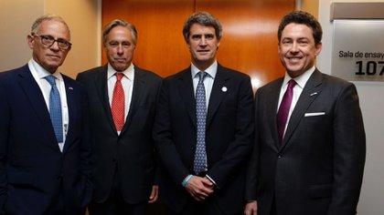 Fred Hochberg, David Thorne, Alfonso Prat-Gay y Noah Mamet (Ministerio de Hacienda y Finanzas)