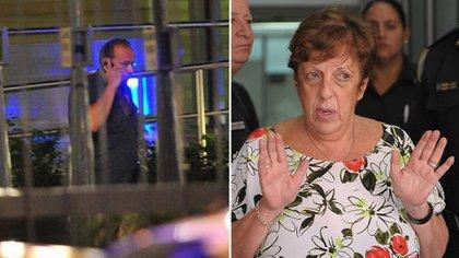 La noche del hallazgo. Sergio Berni, entonces secretario de Seguridad; y la fiscal Viviana Fein, que se acercó a hablar con los periodistas