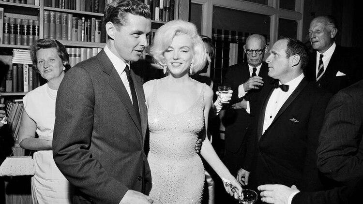 Marilyn Monroe en Madison Square Garden, donde luego se encontraría con John Kennedy
