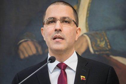 En la imagen, el canciller del régimen de Maduro, Jorge Arreaza. EFE/Miguel Gutiérrez/Archivo