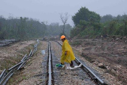 El Tren Maya es un proyecto prioritario de López Obrador con una inversión de 6,294 millones de dólares para cerca de 1,554 kilómetros en los cincos estados del sureste: Chiapas, Tabasco, Campeche, Yucatán y Quintana Roo. (Foto: EFE)