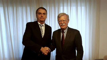 Jair Bolsonaro recibió al consejero de seguridad nacional de la Casa Blanca, John Bolton