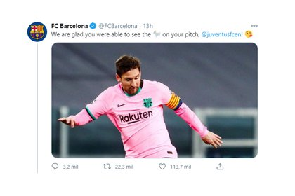 El mensaje del Barcelona a Juventus