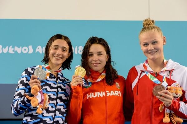 En el podio. (Pablo Elías/Buenos Aires 2018)