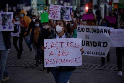 A nivel nacional, el municipio con más feminicidios en 2020 fue Juárez, Chihuahua, con un total de 19 casos, seguido de Tijuana, Baja California (18 feminicidios) y Monterrey, Nuevo León (17) (Foto: EFE/Carlos López)