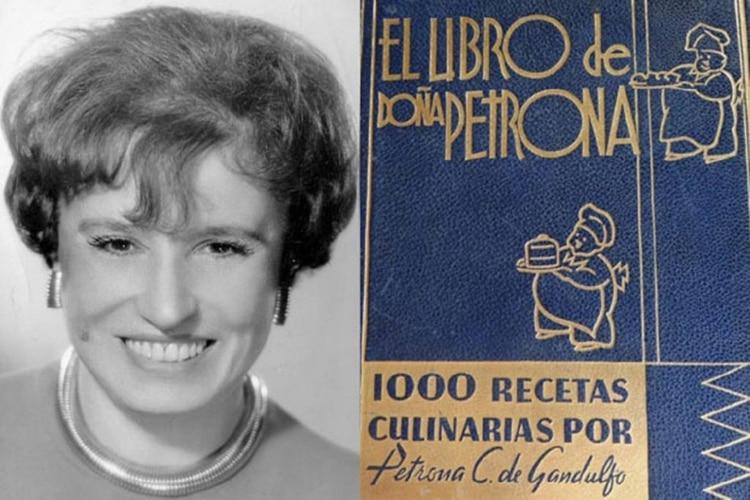Doña Petrona y una de las primeras ediciones del libro