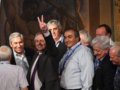 Alberto Fernández, en su visita a la CGT del 19 de noviembre pasado