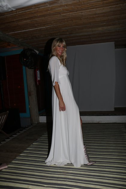 Soledad Solaro con su maxi vestido blanco (GM Press)