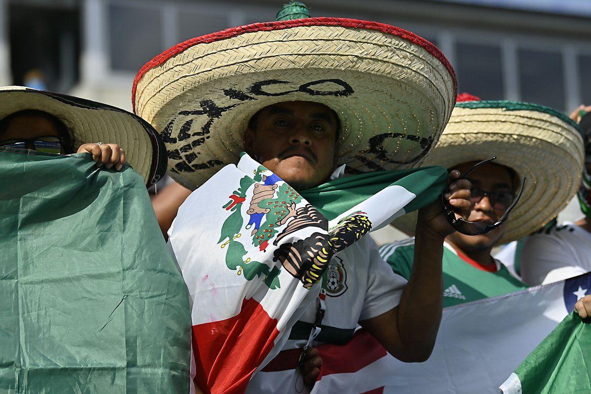 La afición mexicana, presente incluso en Charlotte, Carolina del Norte, EEUU (Foto: Twitter @miseleccionmx)