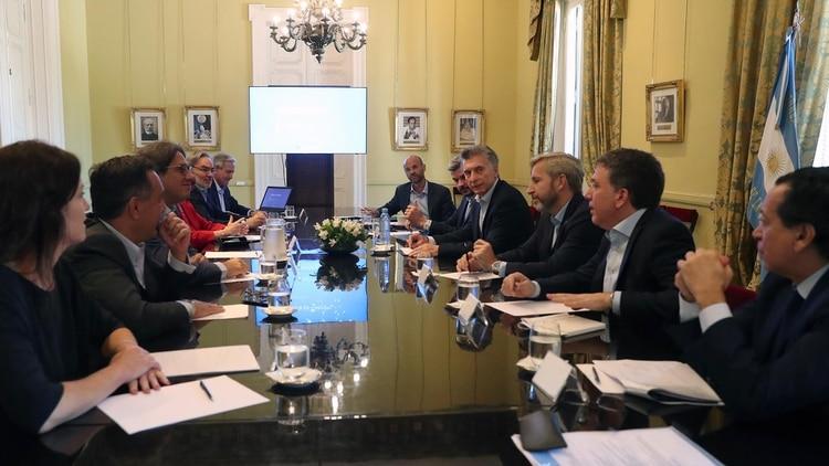 Reunión de Gabinete de ayer, en Casa Rosada.