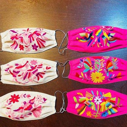 Imagen promocional de los cubrebocas producidos por la marca Mila Textiles Cubrebocas, elaborados con dos capa de manta y dos capas de algodón (Foto: Instagram@Mila_textiles_)